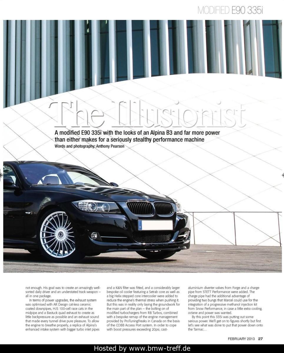 Ptf Customer Car In The Bmw Car Magazine Uk February 2013 Issue Bmw 335i Protuning Freaks
